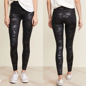 Faux Leather Camo Leggings